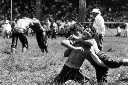 Olive oil wrestling, Edirne, Turkey